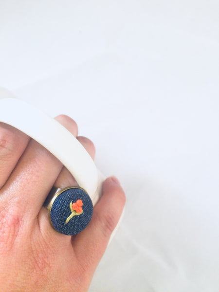 Statement Ring Shown Modeled.