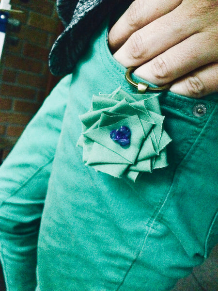 Green and Blue Flower Key FOB Modeled.