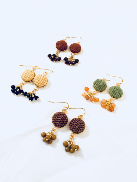 Palafox Gemstone Cluster Earrings by Cardinal House.
