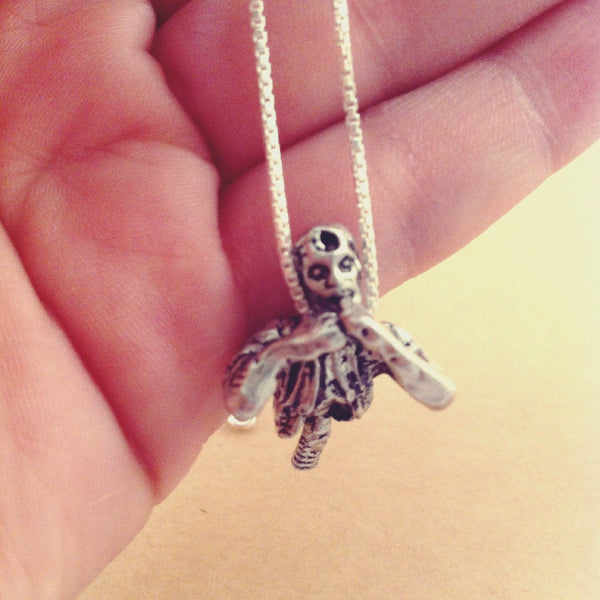 Zombie Charm Necklace Jewelry