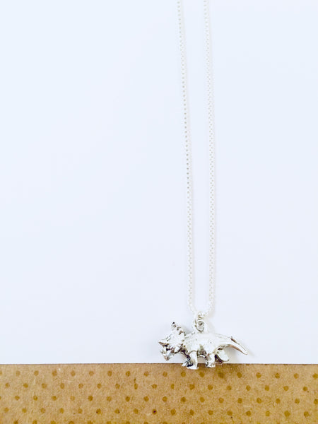 Triceratops Charm Necklace
