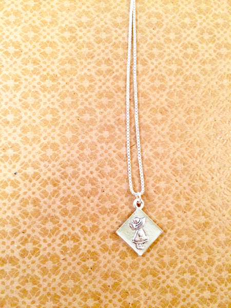Sunbonnet Sue Charm Necklace