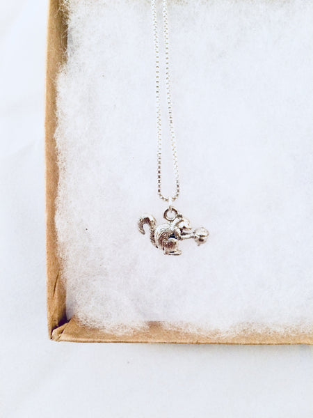 Squirrel Charm Necklace