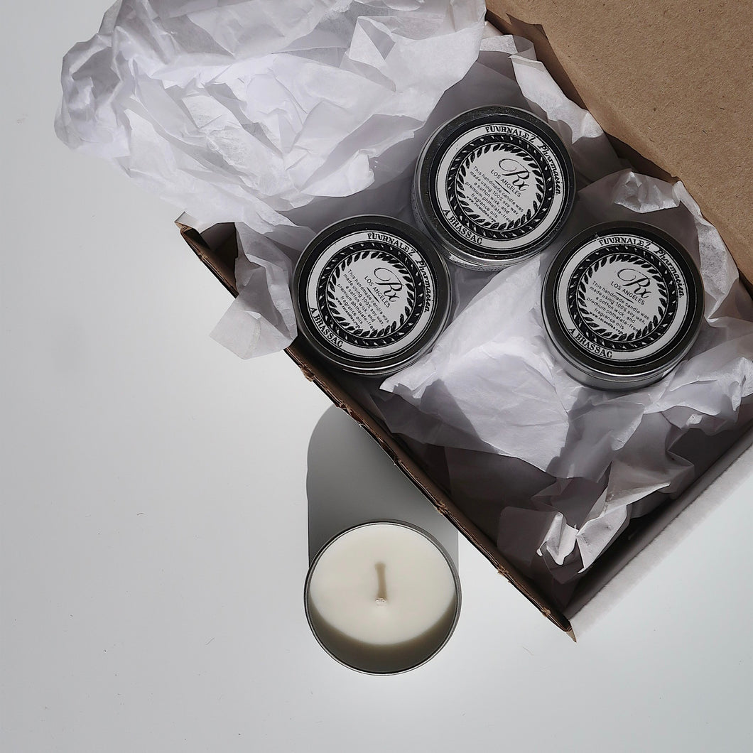 travel soy candle gift box