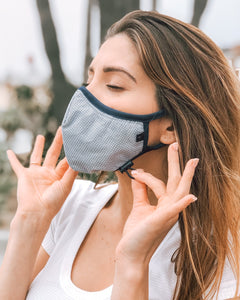 Performance 4-Layer mask.  Comfortable, unisex, adjustable, washable, reusable.  Please see CDC guidelines for use on children