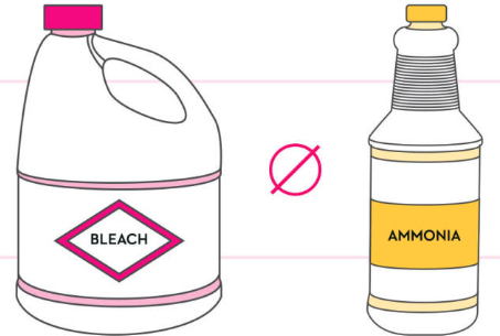 do not use bleach and ammonia together