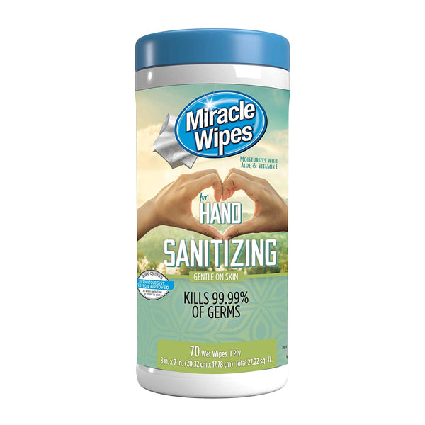 MiracleWipes for Hand Sanitizing (70 Count)