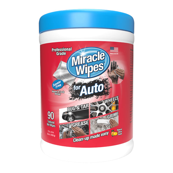 MiracleWipes for Automotive (90 Count)