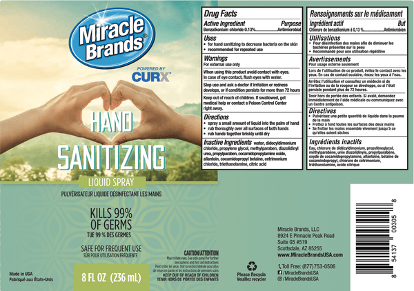 Miracle Brands Hand Sanitizer Spray - (8 Ounce)