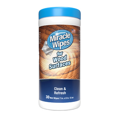 MiracleWipes for Wood Surfaces (30 Count)