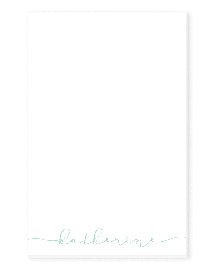 Modern Calligraphy Personalized Notepad | The Gold Paperclip
