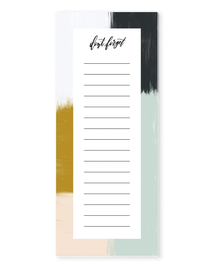 Abstract Paint Strokes To Do List Notepad | The Gold Paperclip