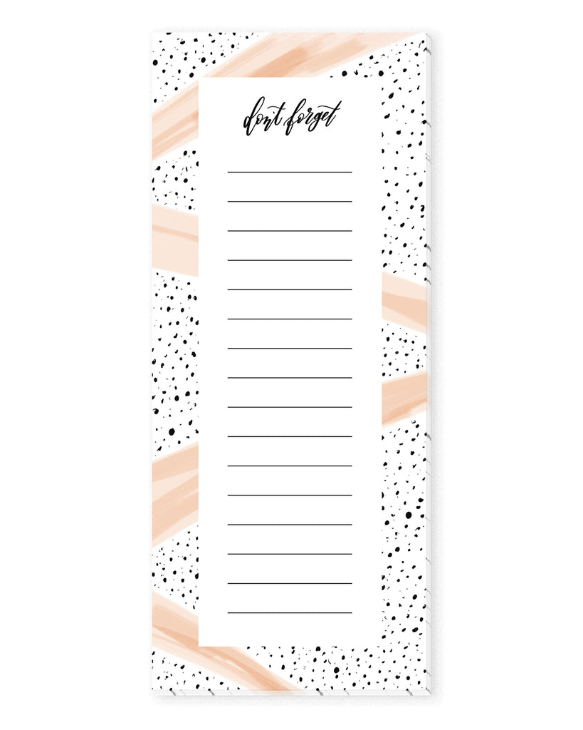 Speckles & Pink Stripes To Do List Notepad | The Gold Paperclip