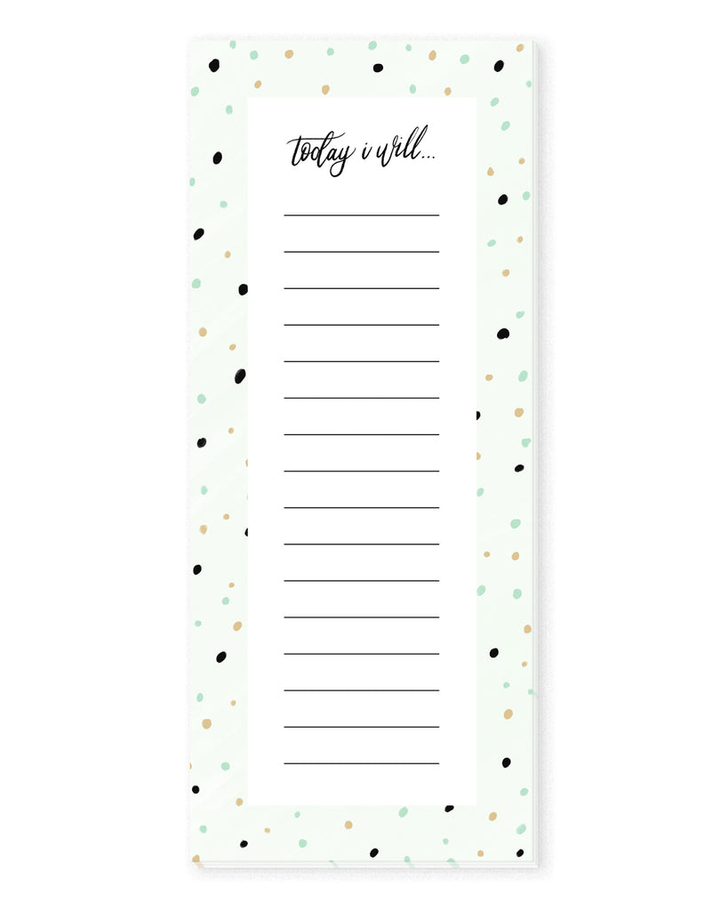 Mint Chip To Do List Notepad | The Gold Paperclip
