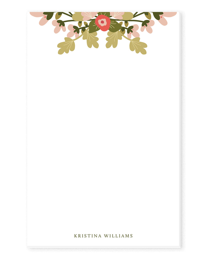 Spring Floral Personalized Notepad