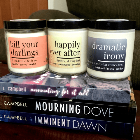 Candle gifts for writers