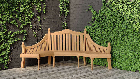 Grafton Teak Bench 6 Seater