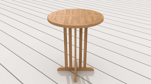 Teak Round Bar Table 90cm
