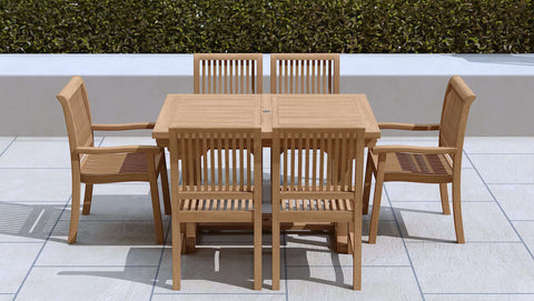 Garden Extending Dining Table & 6 Chairs