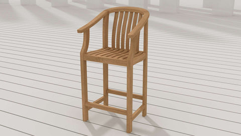 Winchester Teak Bar Stool - With Arms