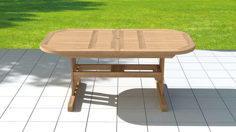 Garden Deluxe Extending 130-180cm (6-8 Seater) Table