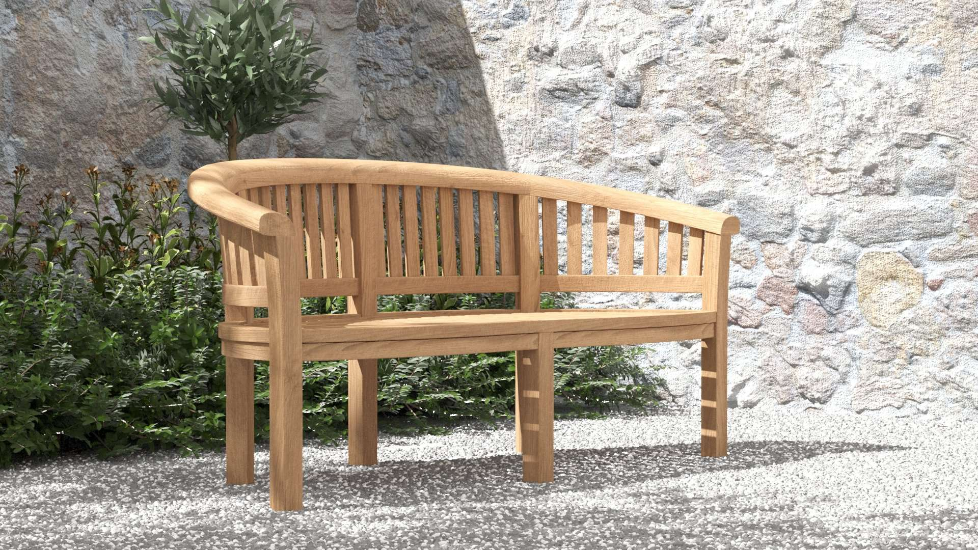 Gloucester Teak Bench 3 Seater  - Chic Teak® | Luxury Teak Furniture