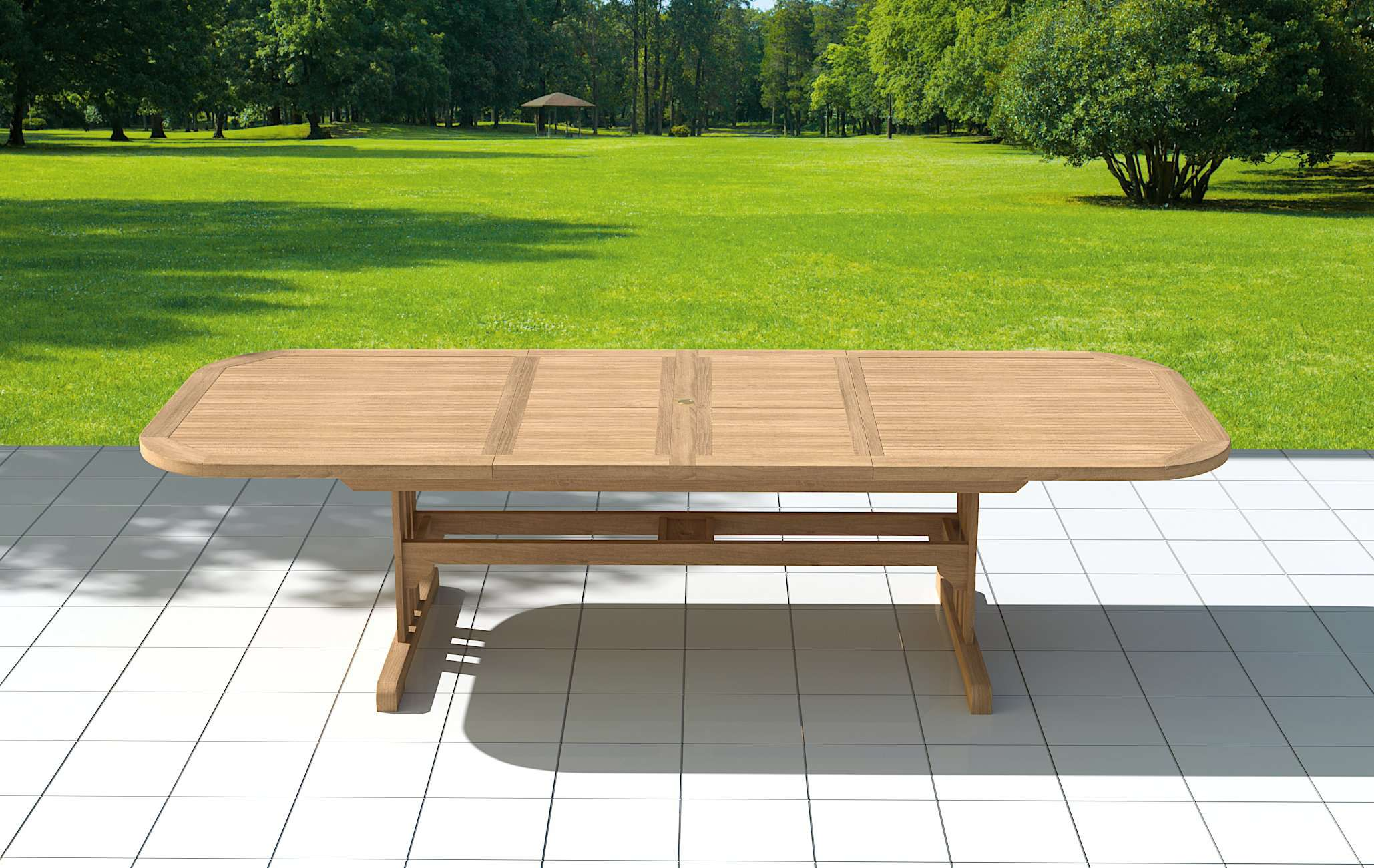 Garden Deluxe Extending 180-240cm (8-12 Seater) Table & Chairs  - Chic Teak® | Luxury Teak Furniture