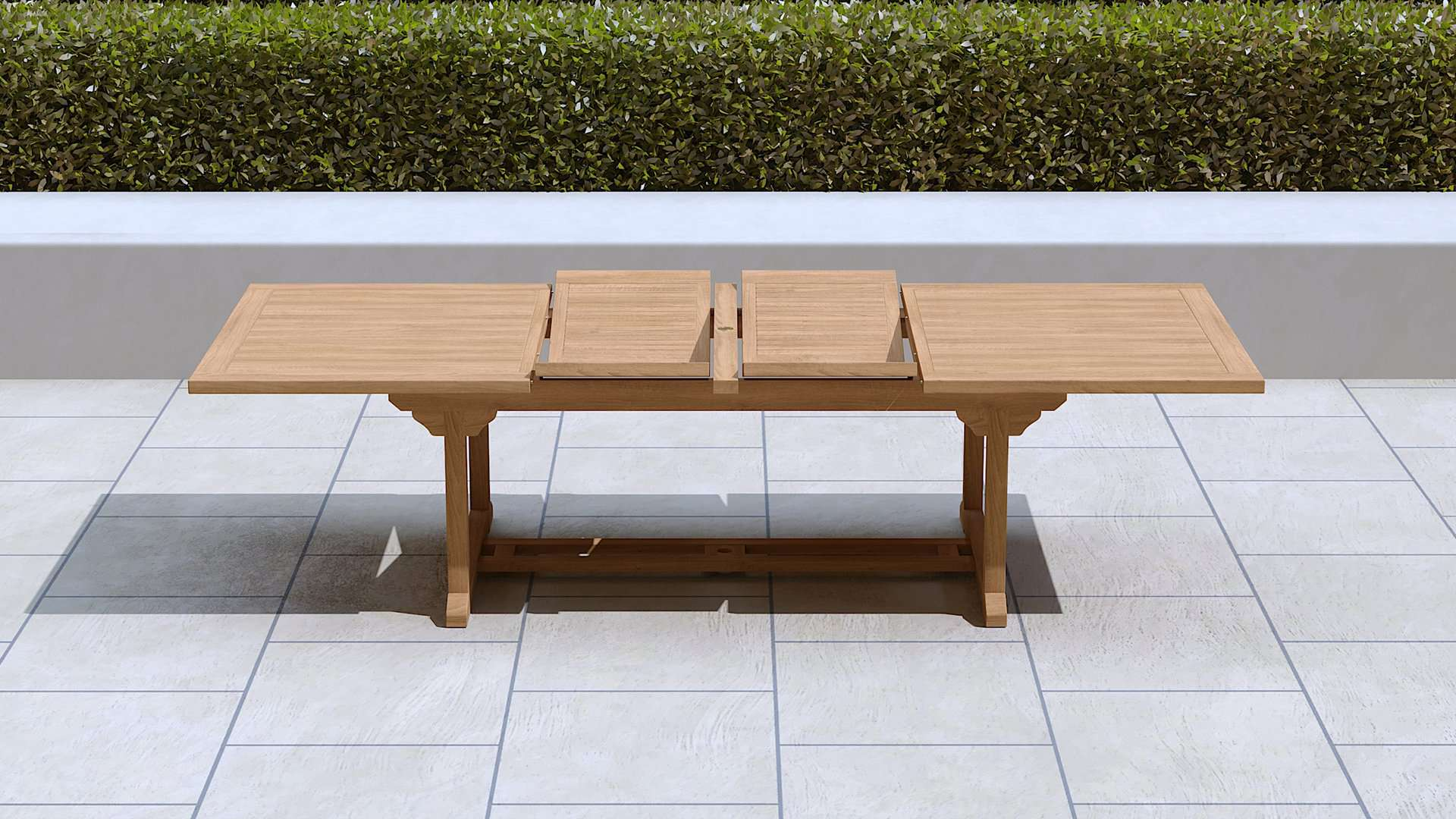 Garden Extending Dining Table 200-300cm (10-14 Seater)  - Chic Teak® | Luxury Teak Furniture