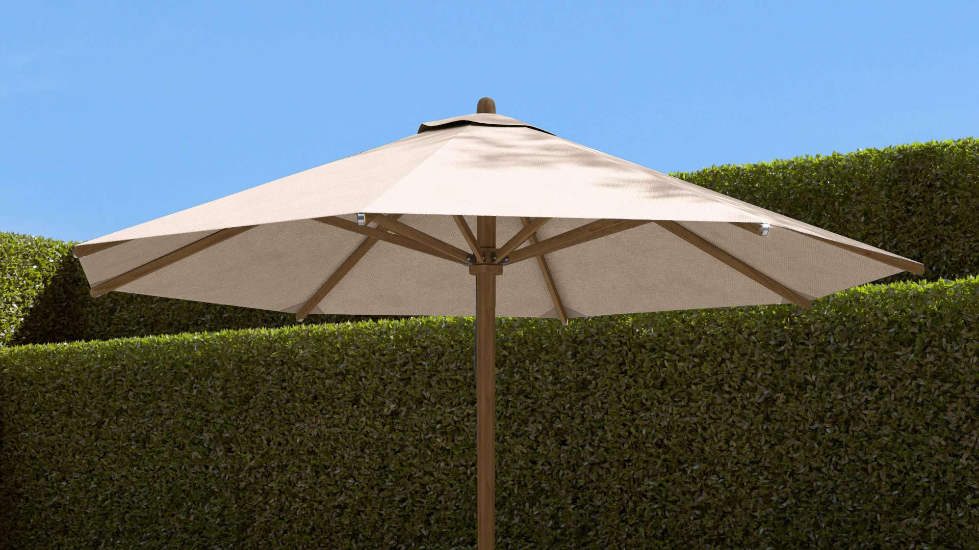Parasol (Natural) 300cm  - Chic Teak® | Luxury Teak Furniture