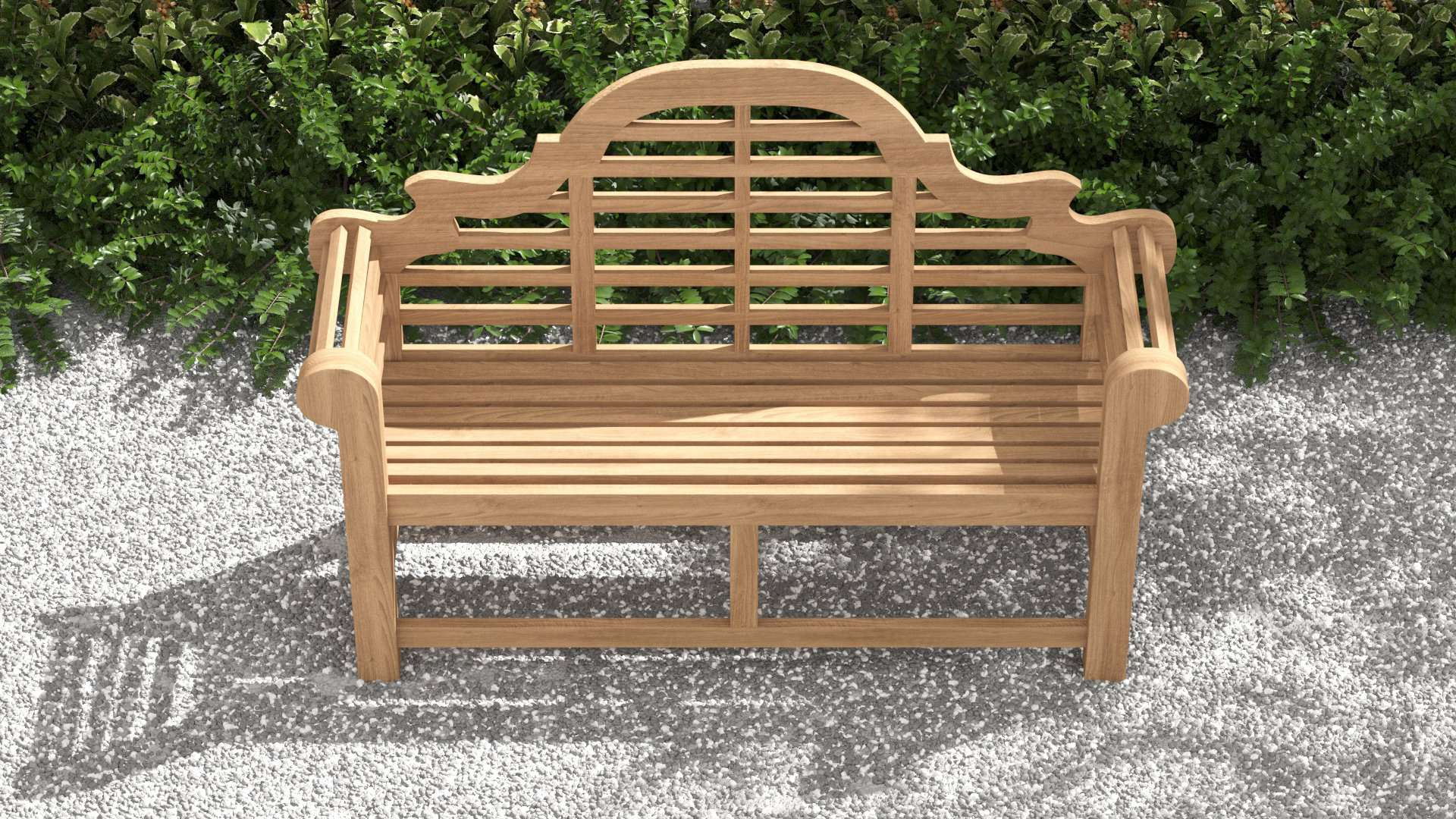 Lutyens Teak Bench (130cm) 2 Seater  - Chic Teak® | Luxury Teak Furniture