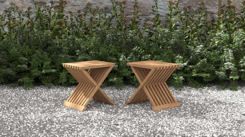 Teak Folding Coffee Table (Pair)