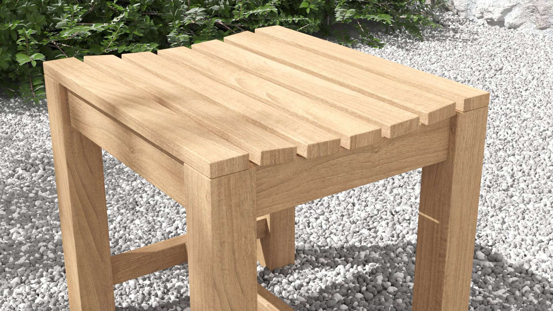 Backless Stool  - Chic Teak® | Luxury Teak Furniture
