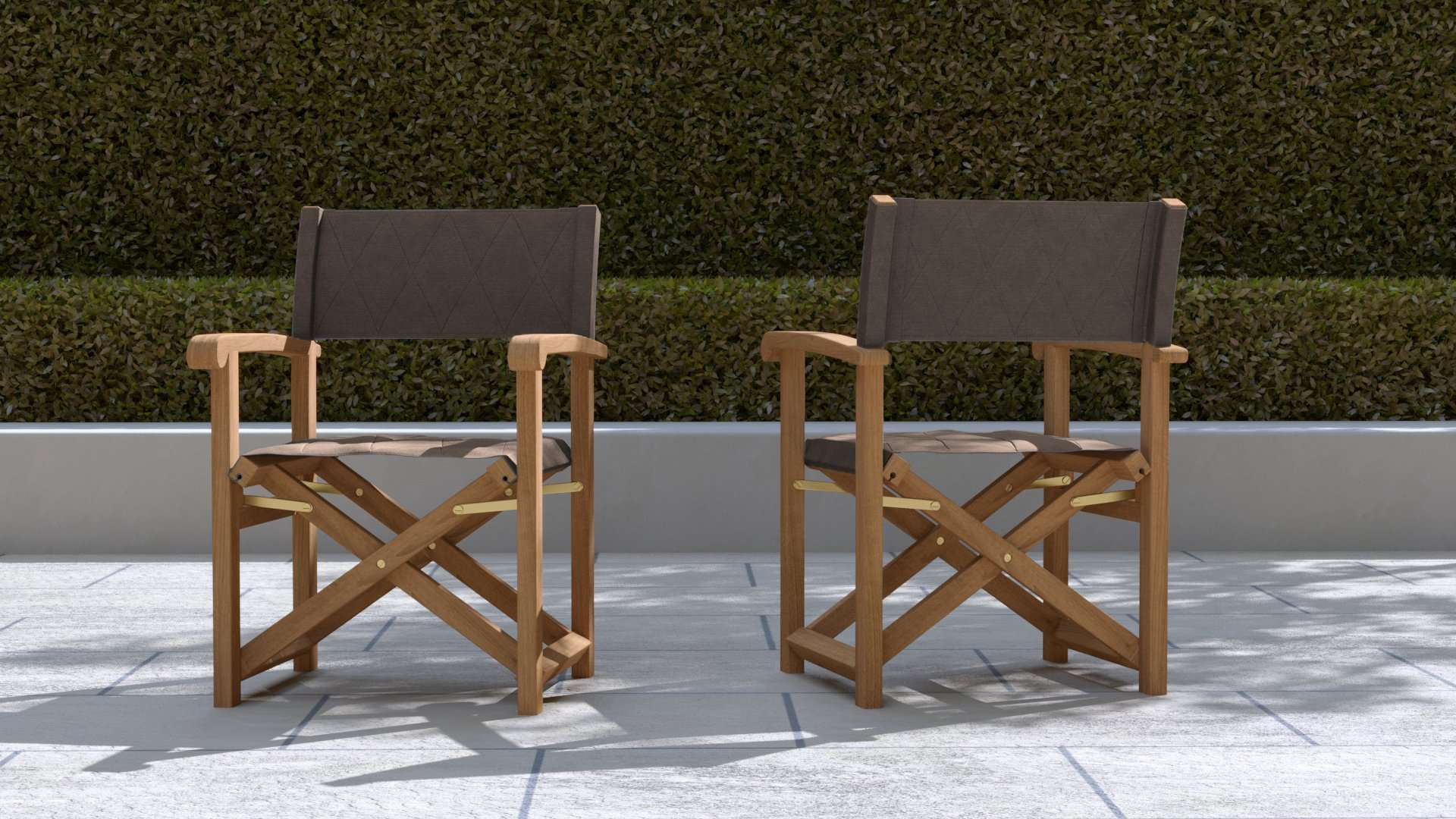 Directors Chair Cocoa  - Chic Teak® | Luxury Teak Furniture