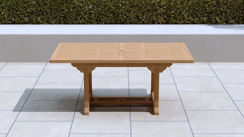 Garden Extending Dining Table 130-180cm (6-8 Seater)