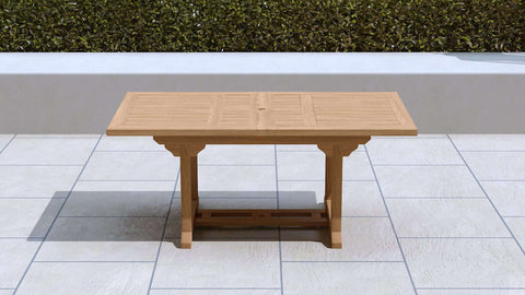 Garden Extending Dining Table 180-240cm (6-10 Seater)
