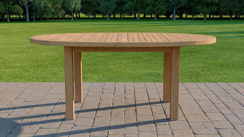Teak Elliptical Garden Dining Table 180cm (4-6 Seater)
