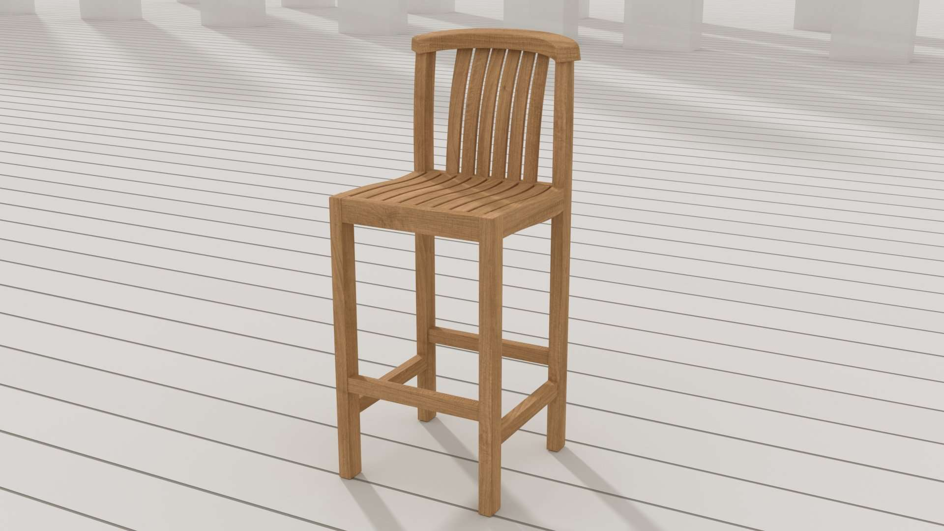Winchester Teak Bar Stool - Without Arms  - Chic Teak® | Luxury Teak Furniture