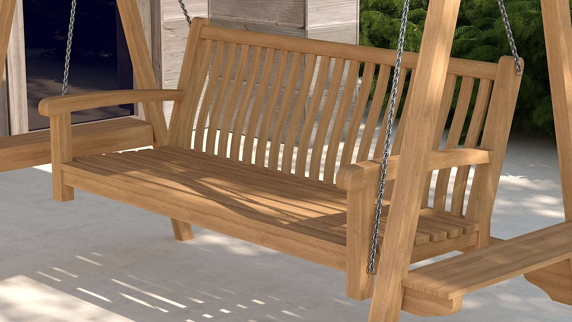 Teak Swing Seat - Cocoa Canopy  - Chic Teak® | Luxury Teak Furniture