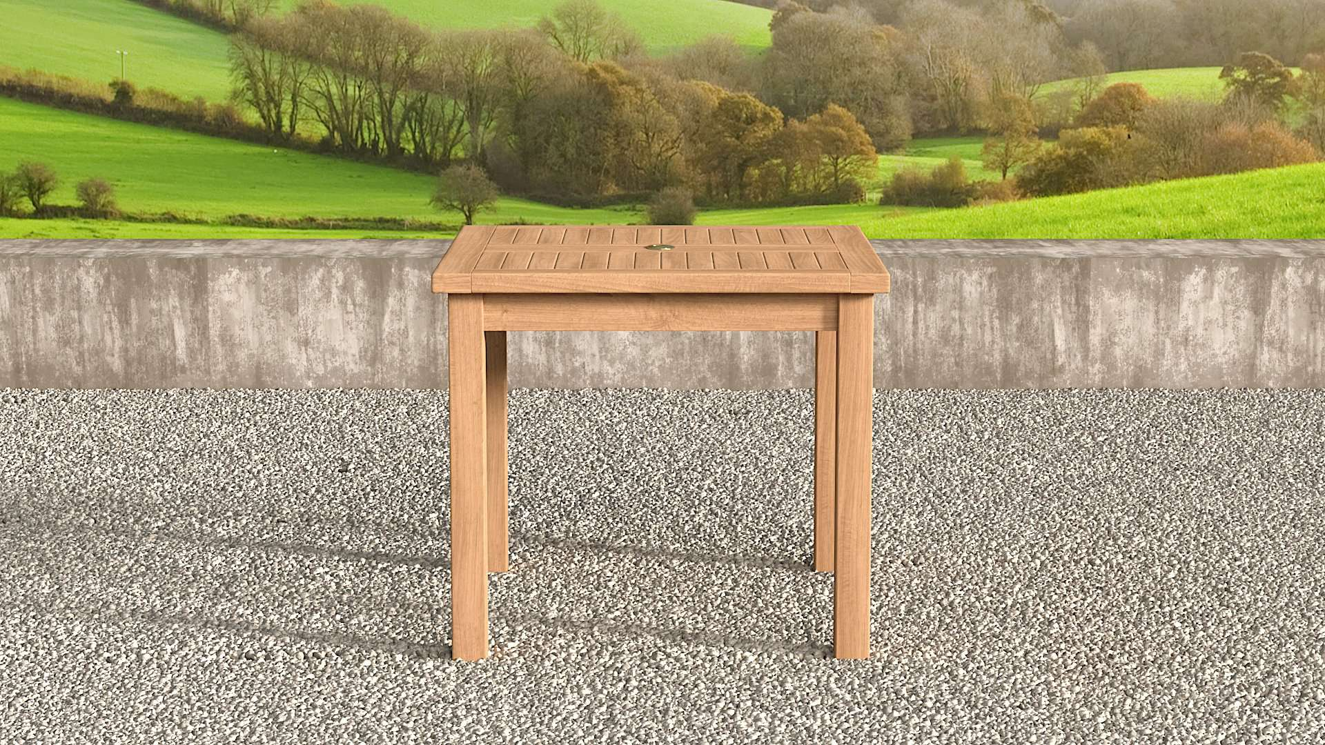 Square Garden Teak Table 100cm (4 Seater)  - Chic Teak® | Luxury Teak Furniture