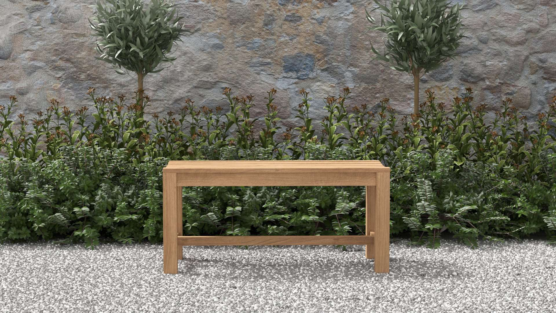 Teak Backless Bench 100cm  - Chic Teak® | Luxury Teak Furniture