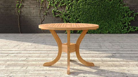 Garden Teak Pedestal Table 105cm (4 Seater)