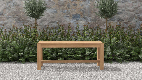 Teak Backless Bench 115cm