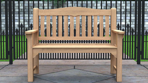 Hereford Teak Garden Bench 2 Seater