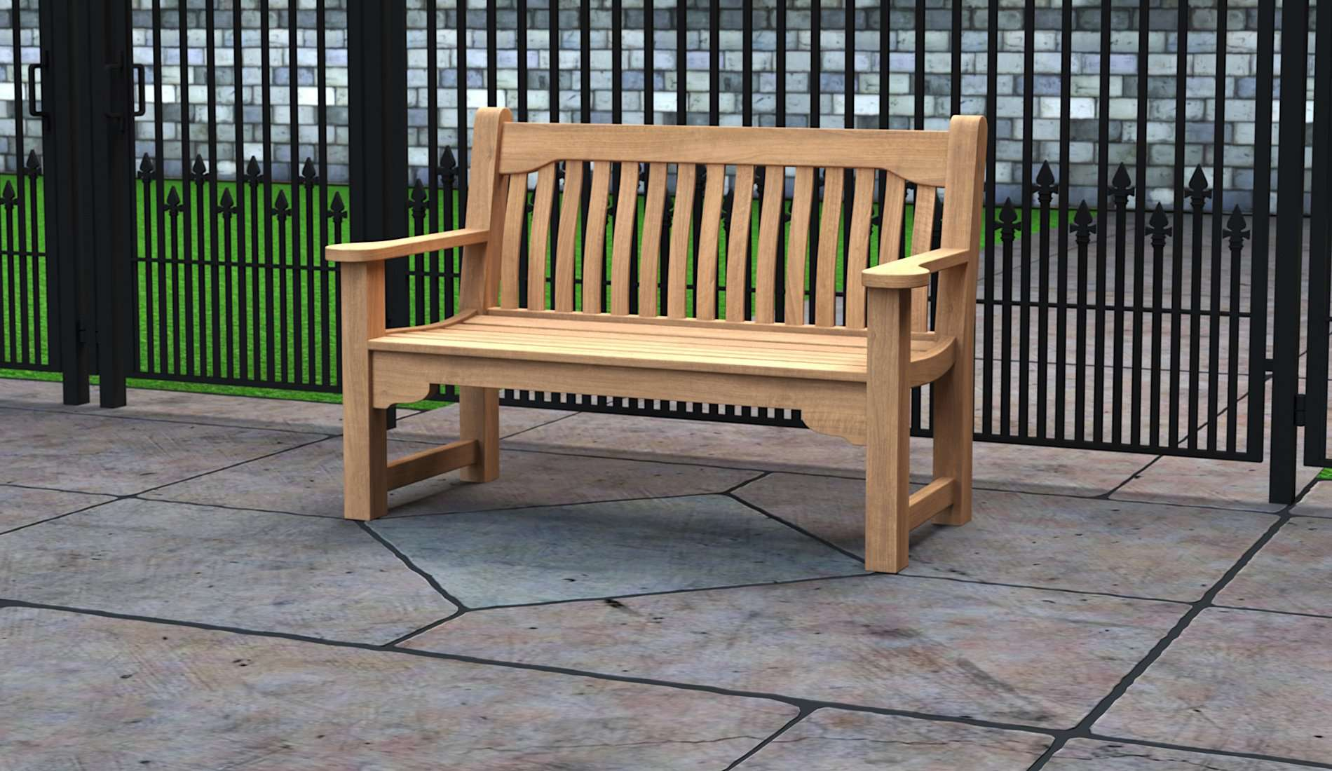 The York Teak Commemorative Bench 2 Seater  - Chic Teak® | Luxury Teak Furniture