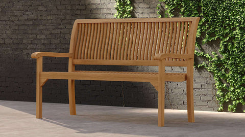 Guildford Teak Bench 130cm (2 Seater)