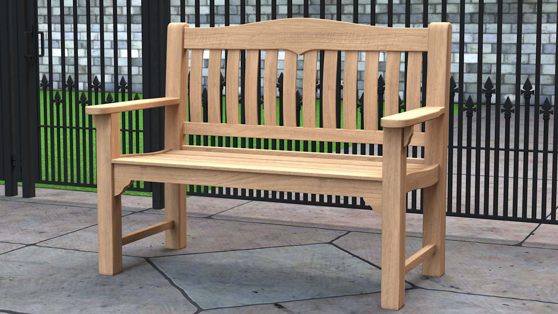 Hereford Teak Garden Bench 2 Seater  - Chic Teak® | Luxury Teak Furniture