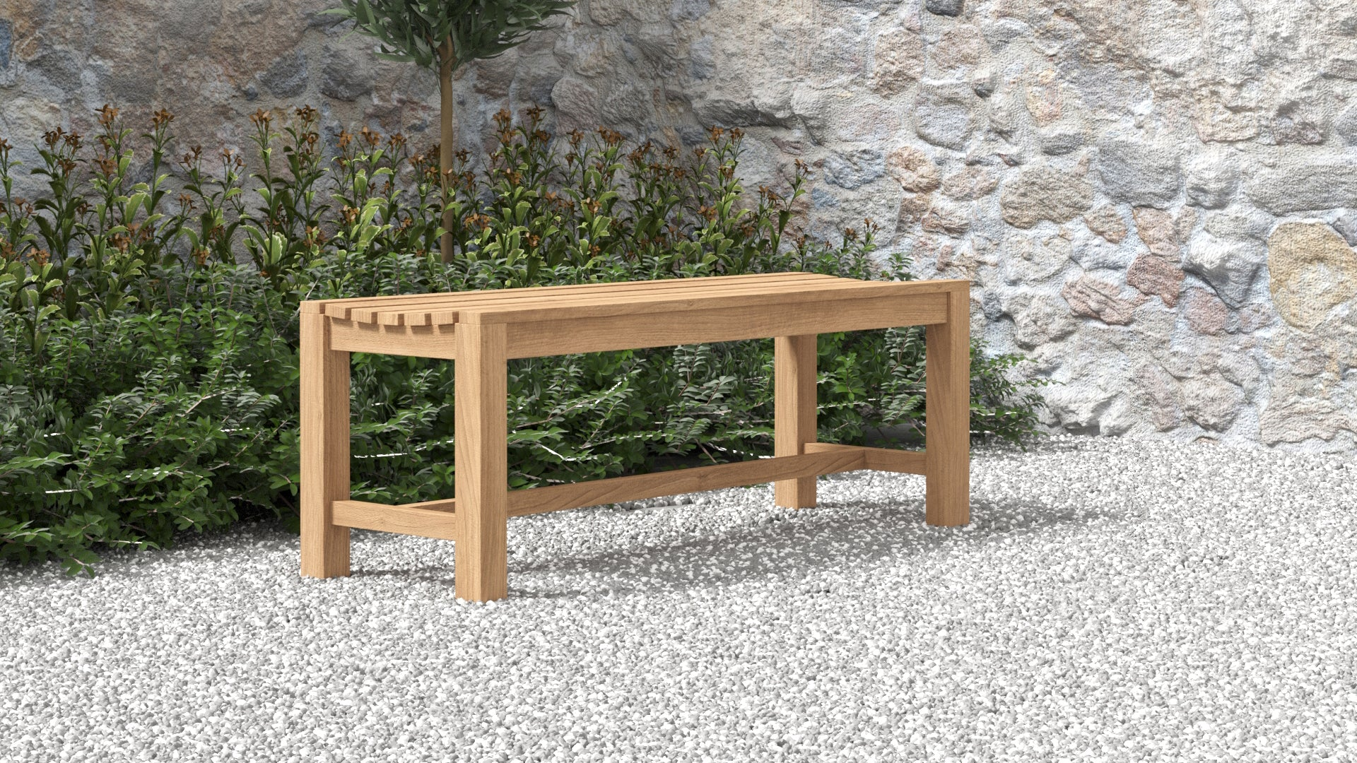 Teak Backless Bench 130cm  - Chic Teak® | Luxury Teak Furniture