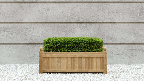 Rectangular Teak Planter  90 x 50 x 45cm