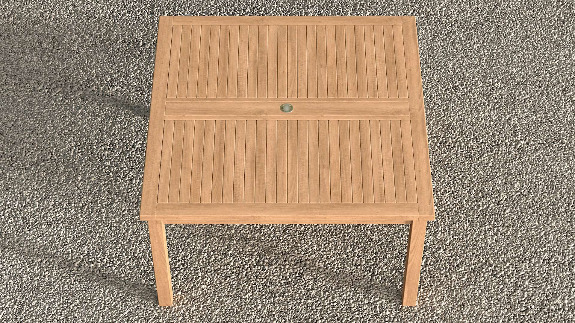 Square Garden Teak Table 140cm (8 Seater)  - Chic Teak® | Luxury Teak Furniture