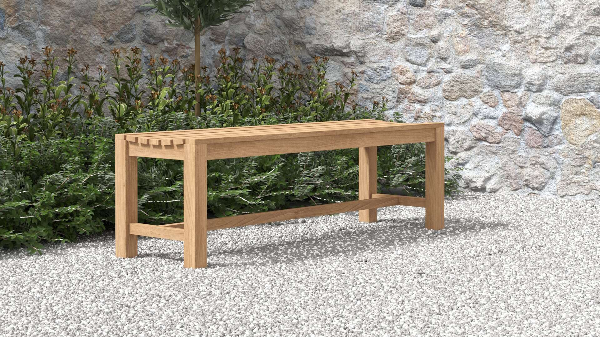 Teak Backless Bench 150cm  - Chic Teak® | Luxury Teak Furniture